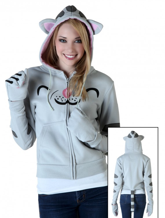 Womens Soft Kitty Hoodie, halloween costume (Womens Soft Kitty Hoodie)