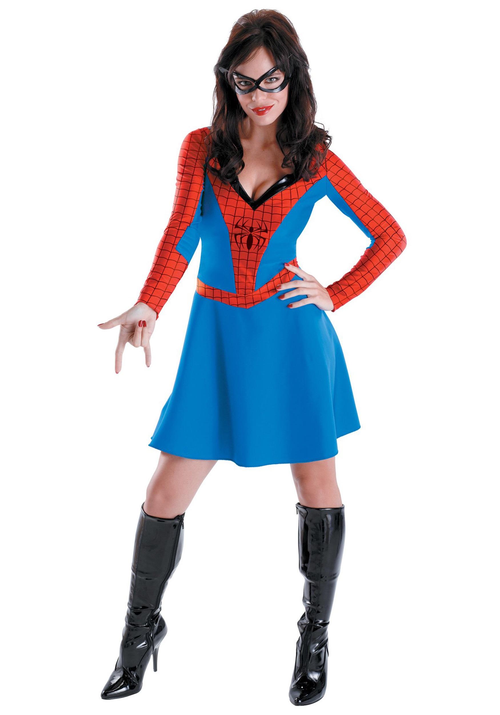 Womens Spider Girl Costume  sc 1 st  Halloween Costumes & Womens Spider Girl Costume - Halloween Costumes