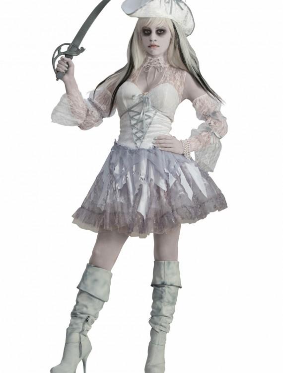 Women's Spirit of the Seas Ghost Pirate Costume, halloween costume (Women's Spirit of the Seas Ghost Pirate Costume)