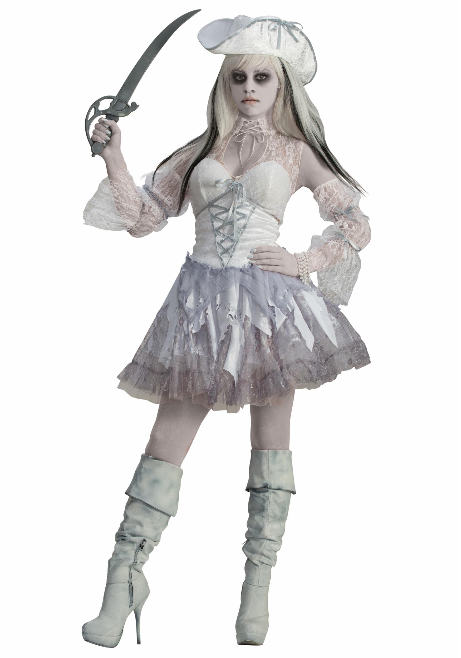 Womenu0027s Spirit of the Seas Ghost Pirate Costume  sc 1 st  Halloween Costumes & Womenu0027s Spirit of the Seas Ghost Pirate Costume - Halloween Costumes