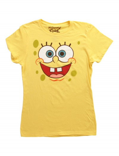 Women's SpongeBob Face Costume T-Shirt, halloween costume (Women's SpongeBob Face Costume T-Shirt)
