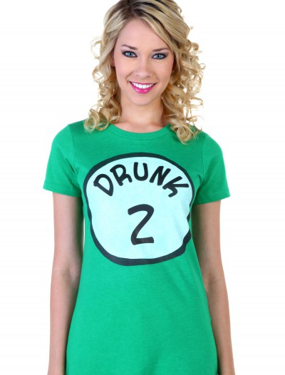 Womens St. Patrick's Day Drunk 2 T-Shirt, halloween costume (Womens St. Patrick's Day Drunk 2 T-Shirt)