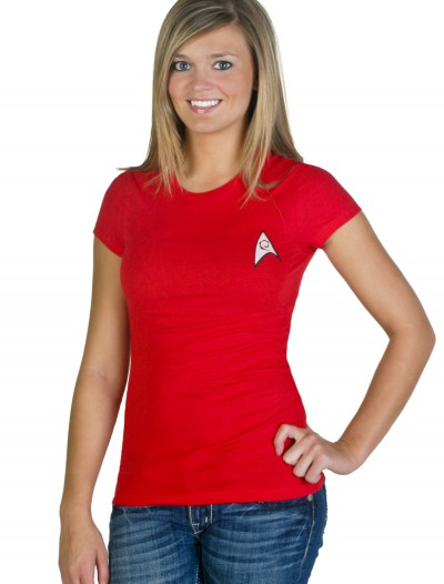 Women's Star Trek Costume T-Shirt, halloween costume (Women's Star Trek Costume T-Shirt)