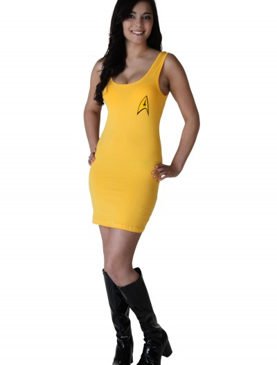 Womens Star Trek Yellow Tunic Dress, halloween costume (Womens Star Trek Yellow Tunic Dress)