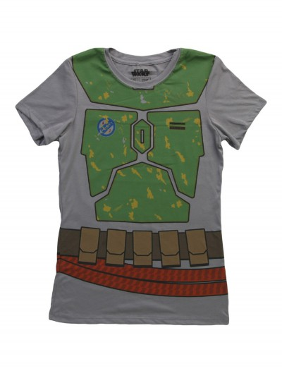 Womens Star Wars Boba Fett Costume T-Shirt, halloween costume (Womens Star Wars Boba Fett Costume T-Shirt)