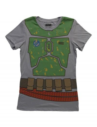 Womens Star Wars Boba Fett Costume T-Shirt, halloween costume (Womens Star Wars Boba Fett Costume T-Shirt)