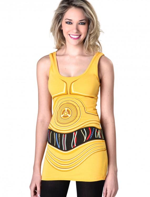 Womens Star Wars C3PO Tunic Tank, halloween costume (Womens Star Wars C3PO Tunic Tank)