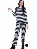 Women's Striped Prisoner Costume, halloween costume (Women's Striped Prisoner Costume)