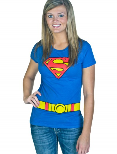Women's Supergirl Costume T-Shirt, halloween costume (Women's Supergirl Costume T-Shirt)