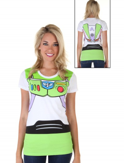 Women's Toy Story Buzz Lightyear Costume T-Shirt, halloween costume (Women's Toy Story Buzz Lightyear Costume T-Shirt)