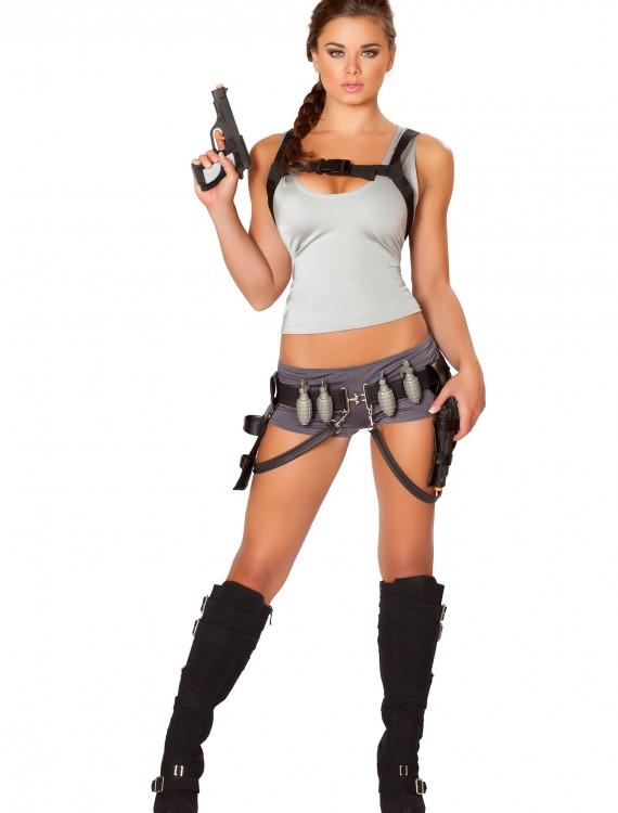 Womens Treasure Huntress Costume, halloween costume (Womens Treasure Huntress Costume)