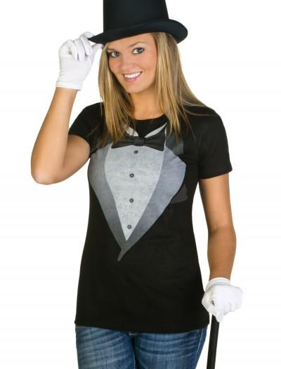 Womens Tuxedo Costume T-Shirt, halloween costume (Womens Tuxedo Costume T-Shirt)