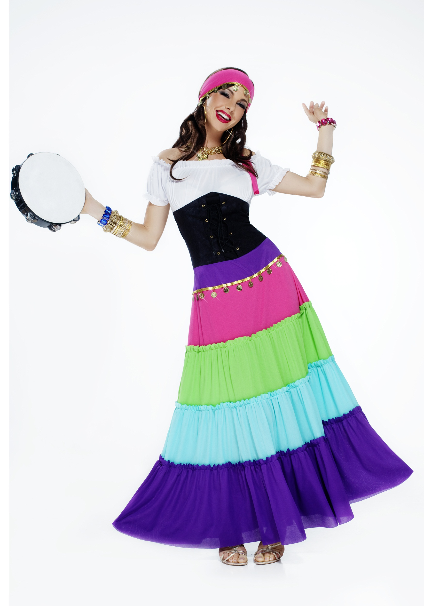 womens vibrant gypsy costume