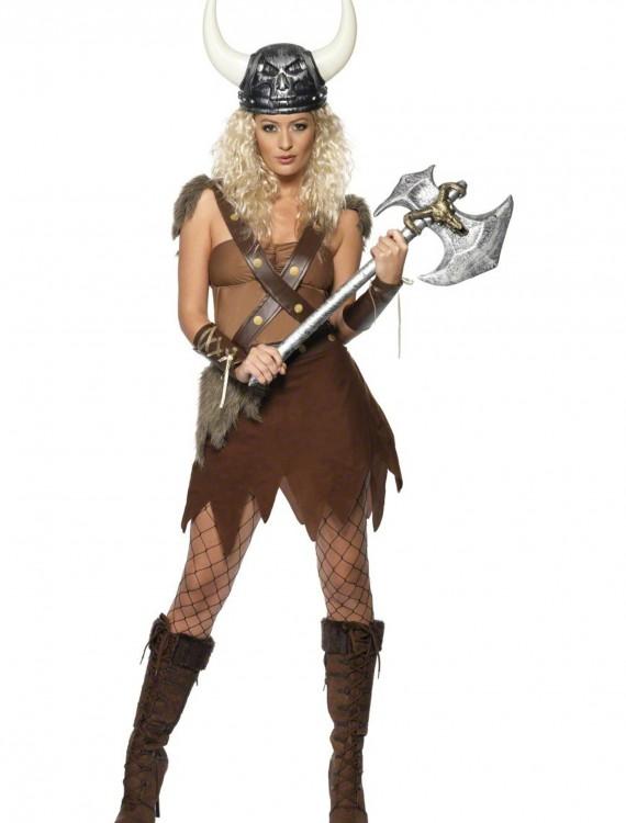 Women's Viking Warrior Costume, halloween costume (Women's Viking Warrior Costume)