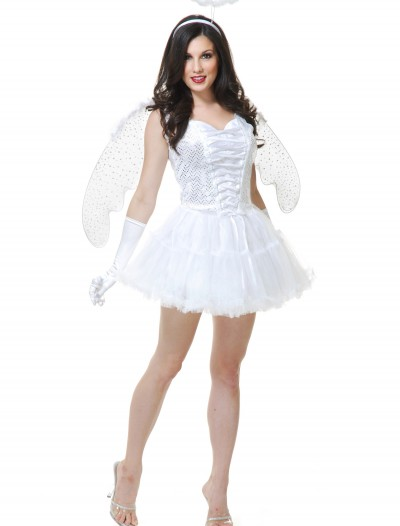Women's White Angel Costume, halloween costume (Women's White Angel Costume)