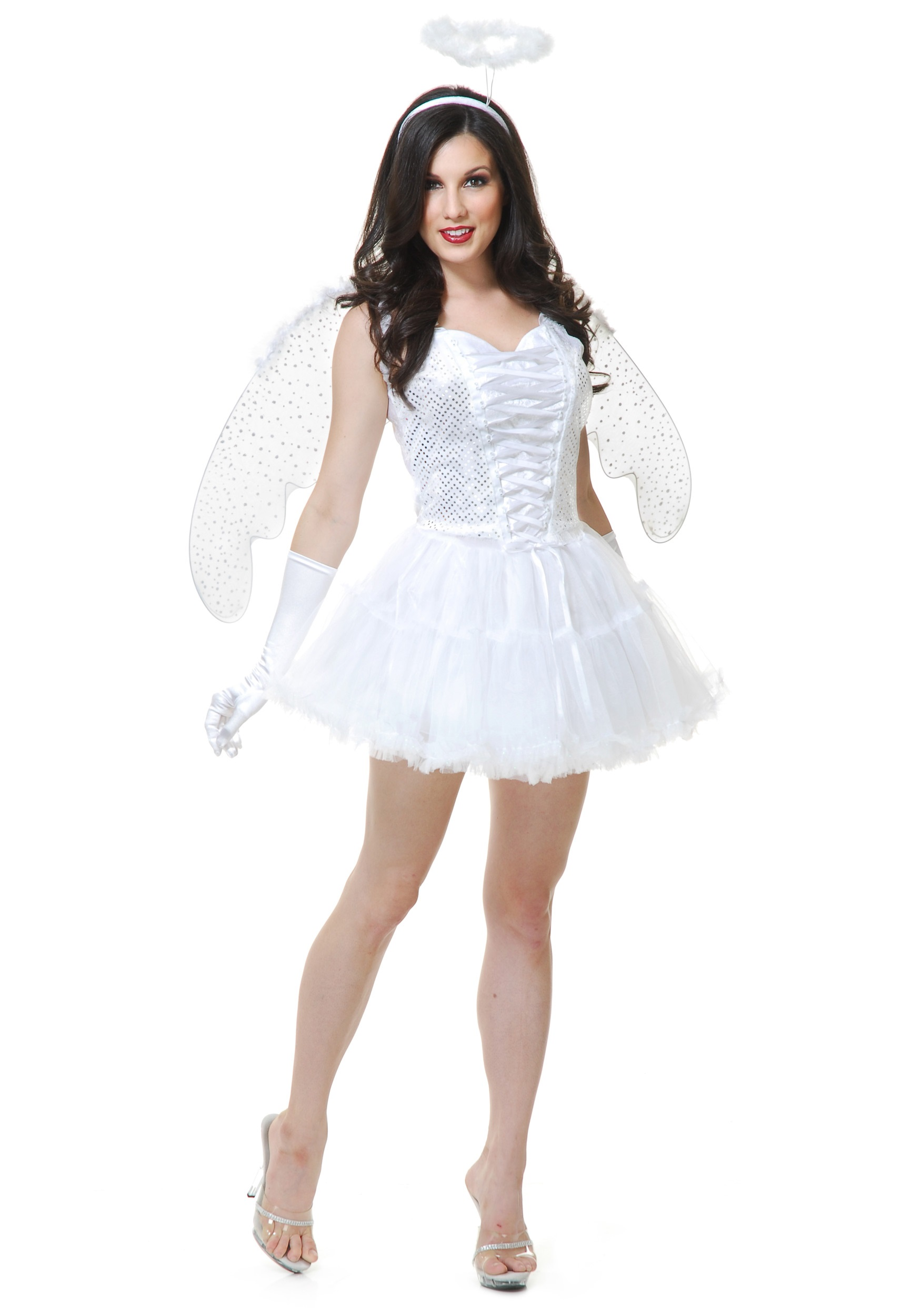women 39 s white angel costume halloween costumes. Black Bedroom Furniture Sets. Home Design Ideas