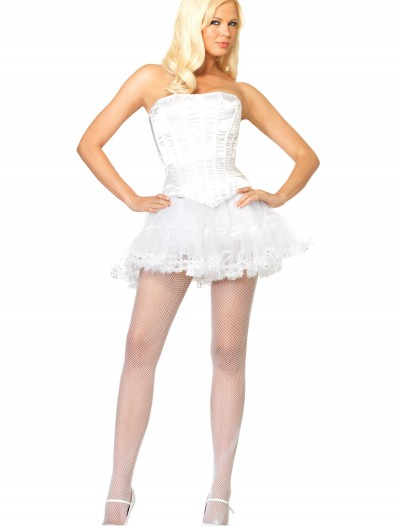 Women's White Corset, halloween costume (Women's White Corset)