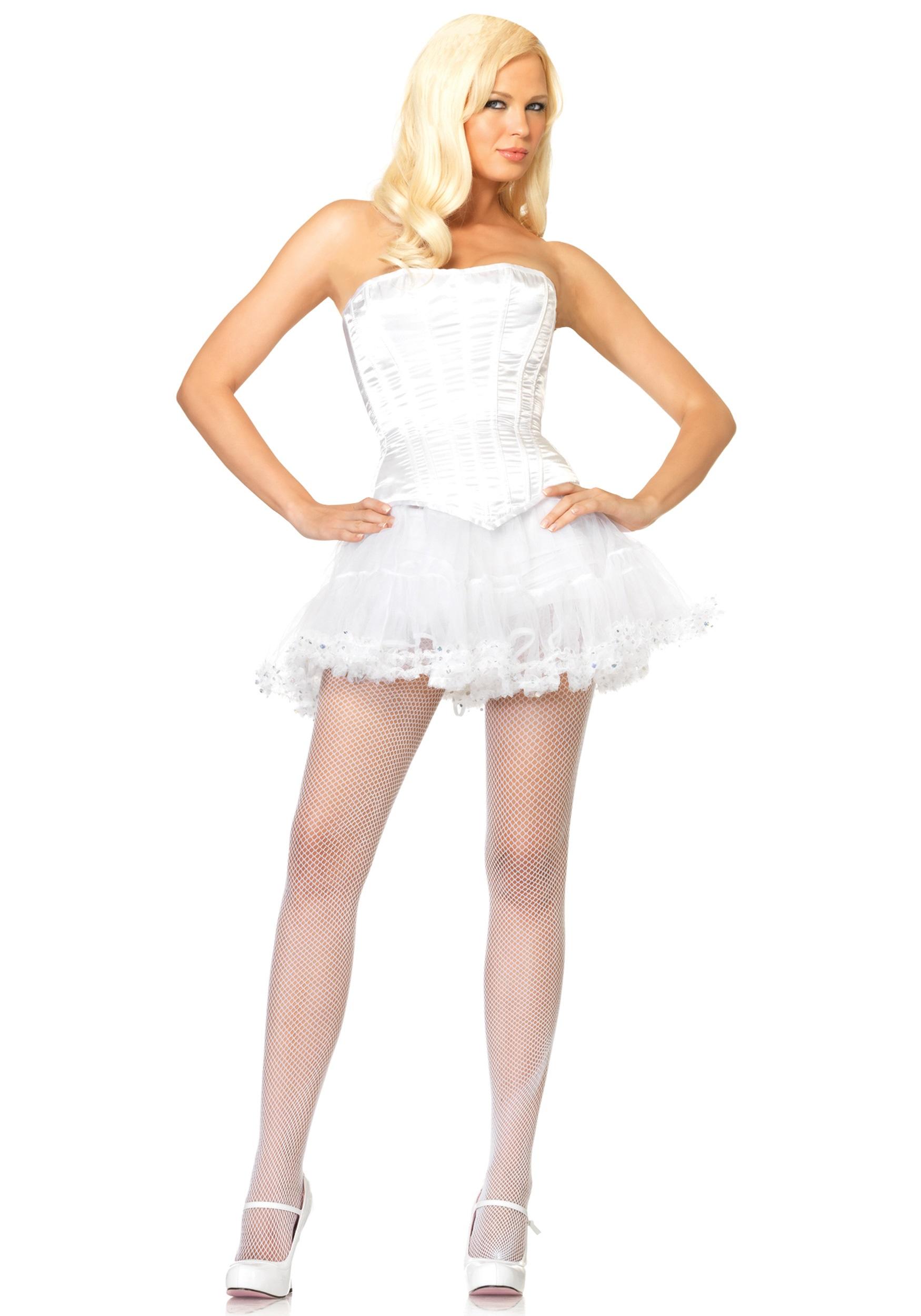 womens white corset