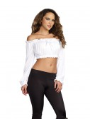 Women's White Peasant Top, halloween costume (Women's White Peasant Top)