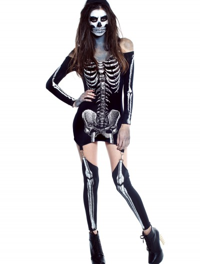 Womens X-Rayed Skeleton Dress Costume, halloween costume (Womens X-Rayed Skeleton Dress Costume)