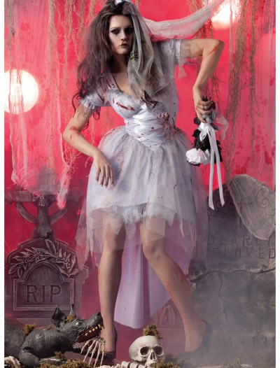 Womens Zombie Bride Costume, halloween costume (Womens Zombie Bride Costume)