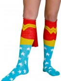 Wonder Woman Cape Socks, halloween costume (Wonder Woman Cape Socks)