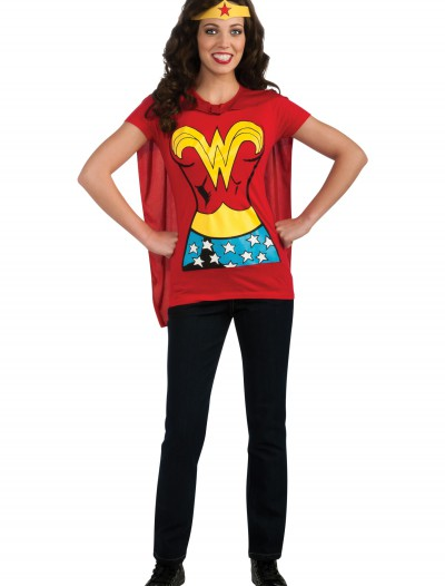 Wonder Woman T-Shirt Costume, halloween costume (Wonder Woman T-Shirt Costume)