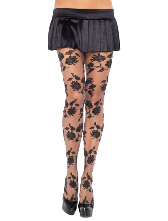 Woven Floral Pantyhose, halloween costume (Woven Floral Pantyhose)