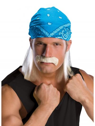 Wrestling Star Bandana Wig w/ Moustache, halloween costume (Wrestling Star Bandana Wig w/ Moustache)