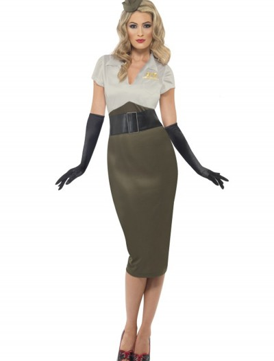 WW2 Army Pin Up Darling Costume, halloween costume (WW2 Army Pin Up Darling Costume)