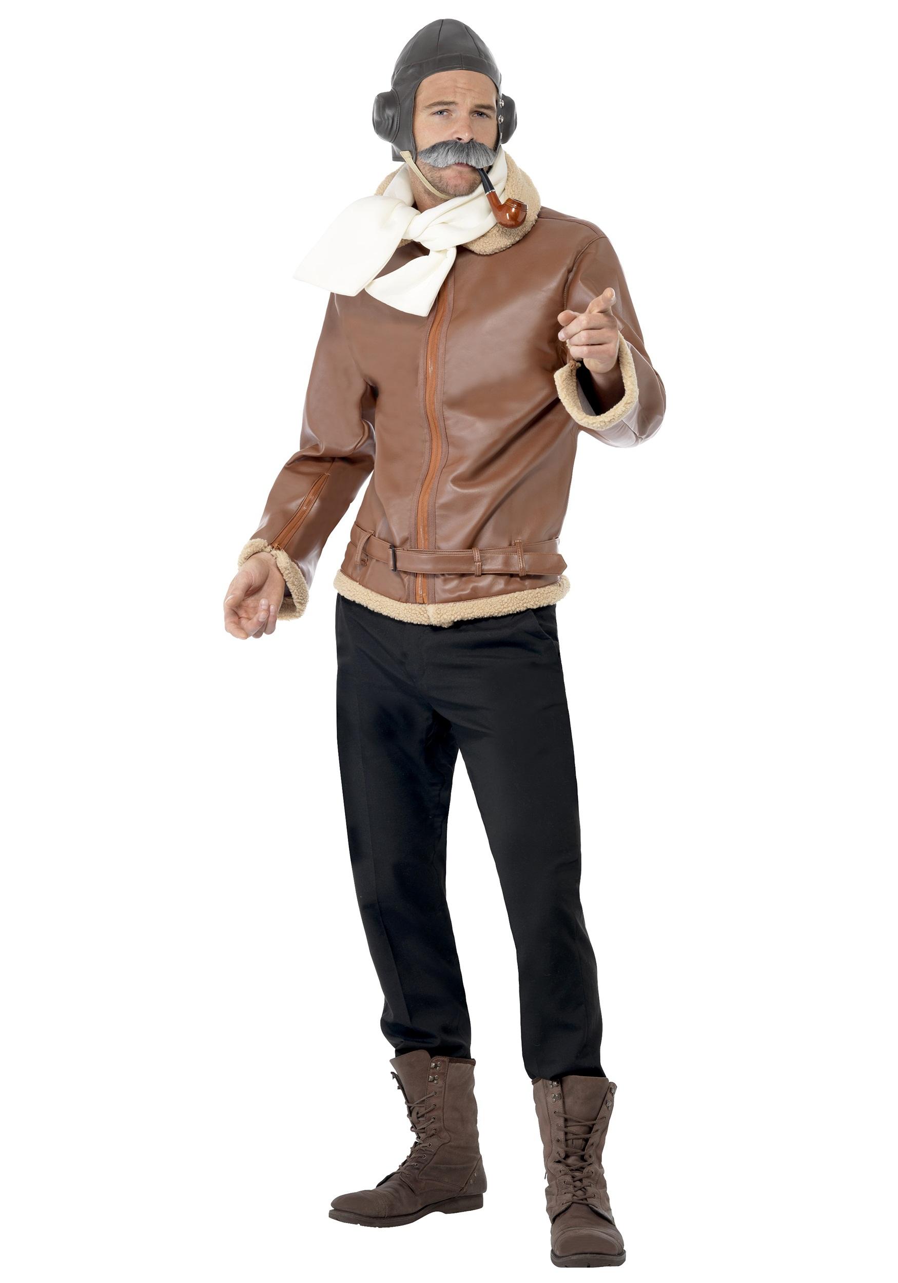 Old fashioned pilot costume 14