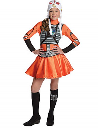 X-Wing Fighter Tween Dress Costume, halloween costume (X-Wing Fighter Tween Dress Costume)