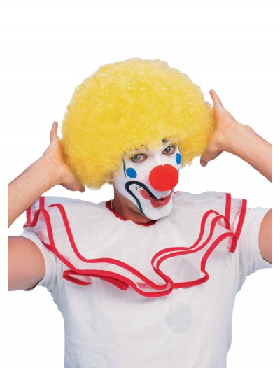 Yellow Afro Clown Wig, halloween costume (Yellow Afro Clown Wig)