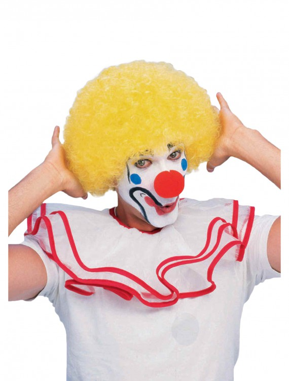 Yellow Afro Clown Wig, halloween costume (Yellow Afro Clown Wig)