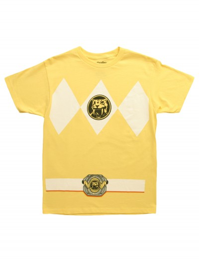 Yellow Power Ranger T-Shirt, halloween costume (Yellow Power Ranger T-Shirt)