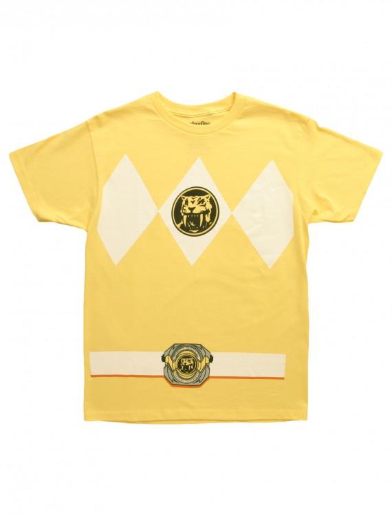 Yellow Power Ranger T-Shirt, halloween costume (Yellow Power Ranger T-Shirt)