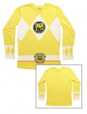 Yellow Power Rangers Long Sleeve Costume Shirt, halloween costume (Yellow Power Rangers Long Sleeve Costume Shirt)