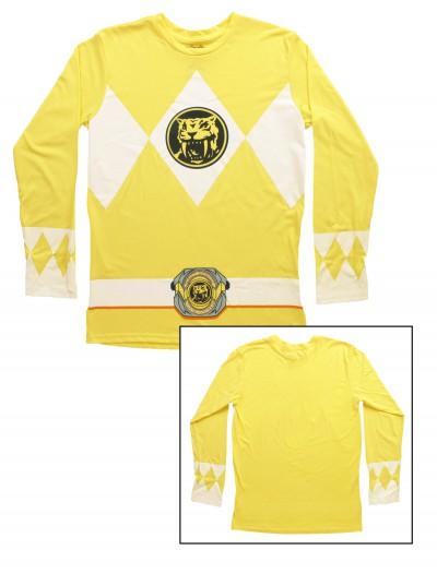 Yellow Power Rangers Long Sleeve Costume Shirt, halloween costume (Yellow Power Rangers Long Sleeve Costume Shirt)