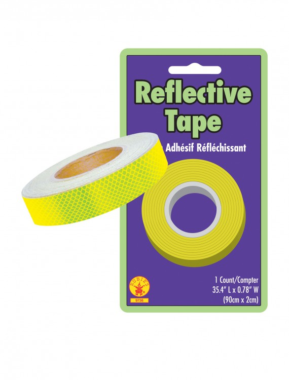 Yellow Reflective Safety Tape, halloween costume (Yellow Reflective Safety Tape)