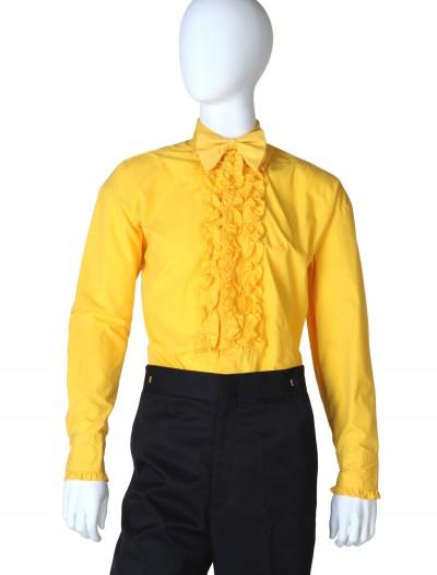 Yellow Ruffled Tuxedo Shirt, halloween costume (Yellow Ruffled Tuxedo Shirt)