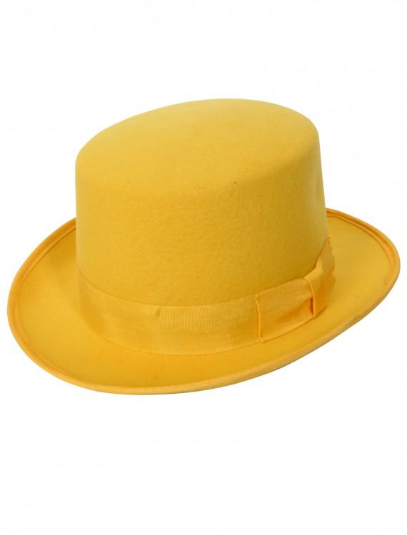 Yellow Wool Top Hat, halloween costume (Yellow Wool Top Hat)
