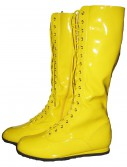 Yellow Wrestling Costume Boots, halloween costume (Yellow Wrestling Costume Boots)