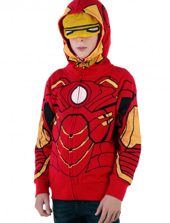 Youth Iron Man Costume Hoodie, halloween costume (Youth Iron Man Costume Hoodie)