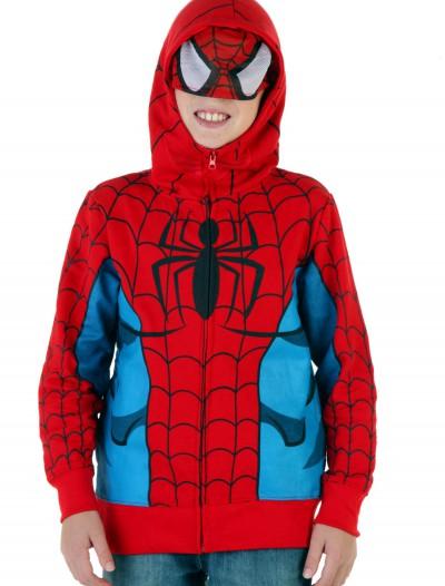 Youth Spider-Man Costume Hoodie, halloween costume (Youth Spider-Man Costume Hoodie)