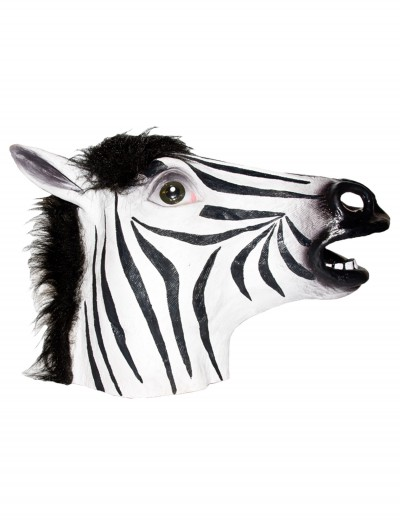 Zebra Latex Mask, halloween costume (Zebra Latex Mask)