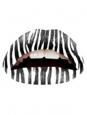 Zebra Lip Applique, halloween costume (Zebra Lip Applique)