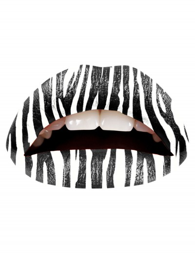 Zebra Lip Applique, halloween costume (Zebra Lip Applique)