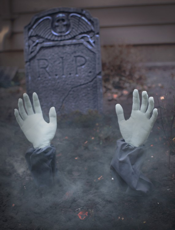 Zombie Arm Lawn Stakes, halloween costume (Zombie Arm Lawn Stakes)