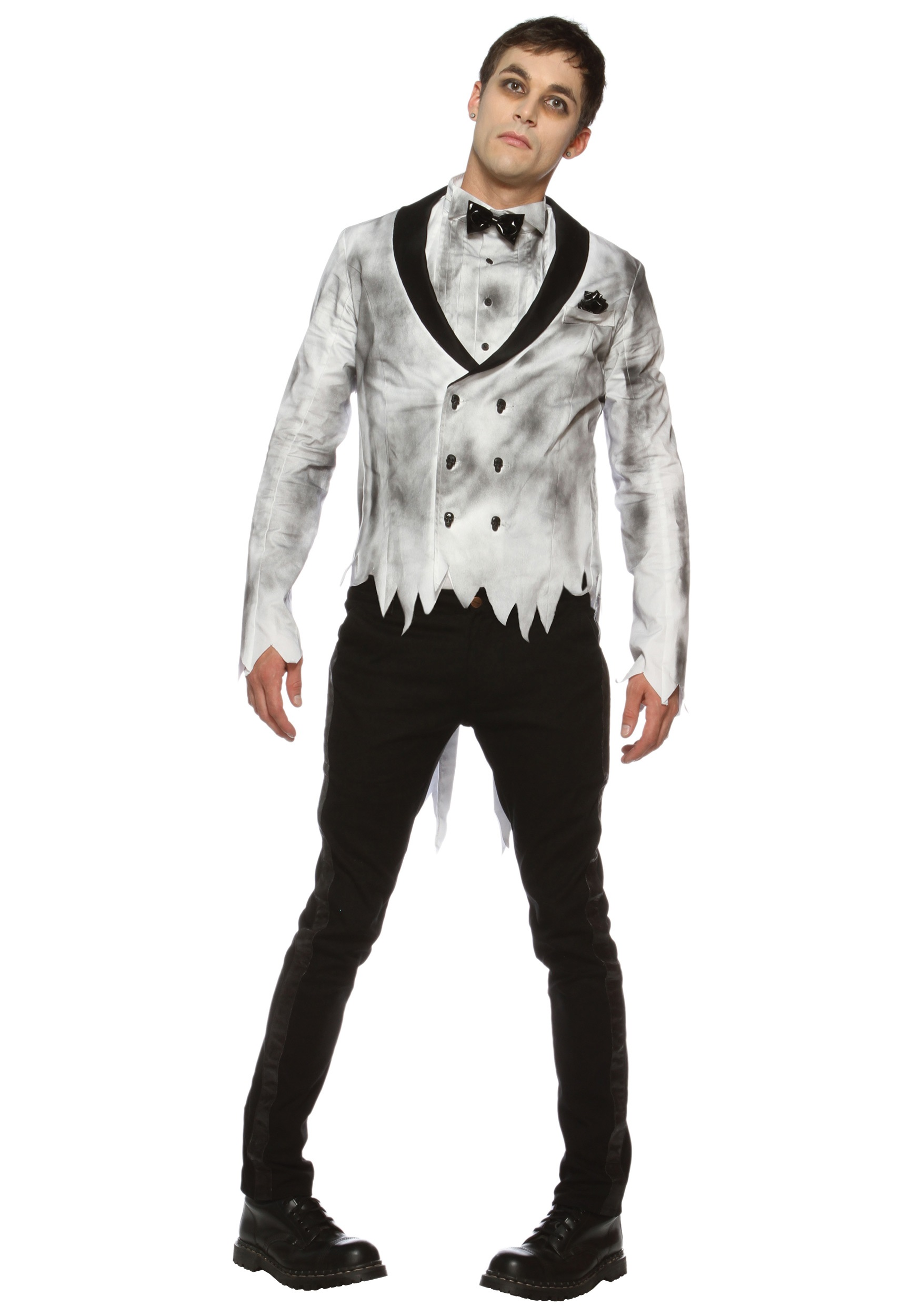 Bride And Groom Halloween Costume.Zombie Groom Costume
