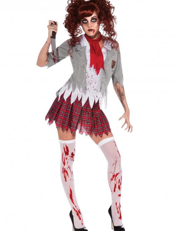 Zombie School Girl Costume, halloween costume (Zombie School Girl Costume)